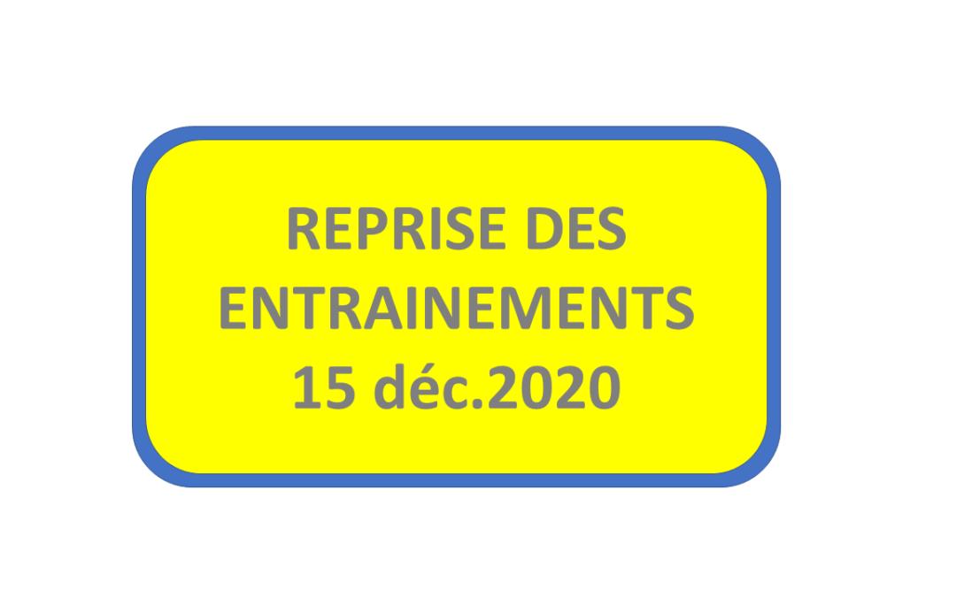 Reprise au 15 décembre 2020