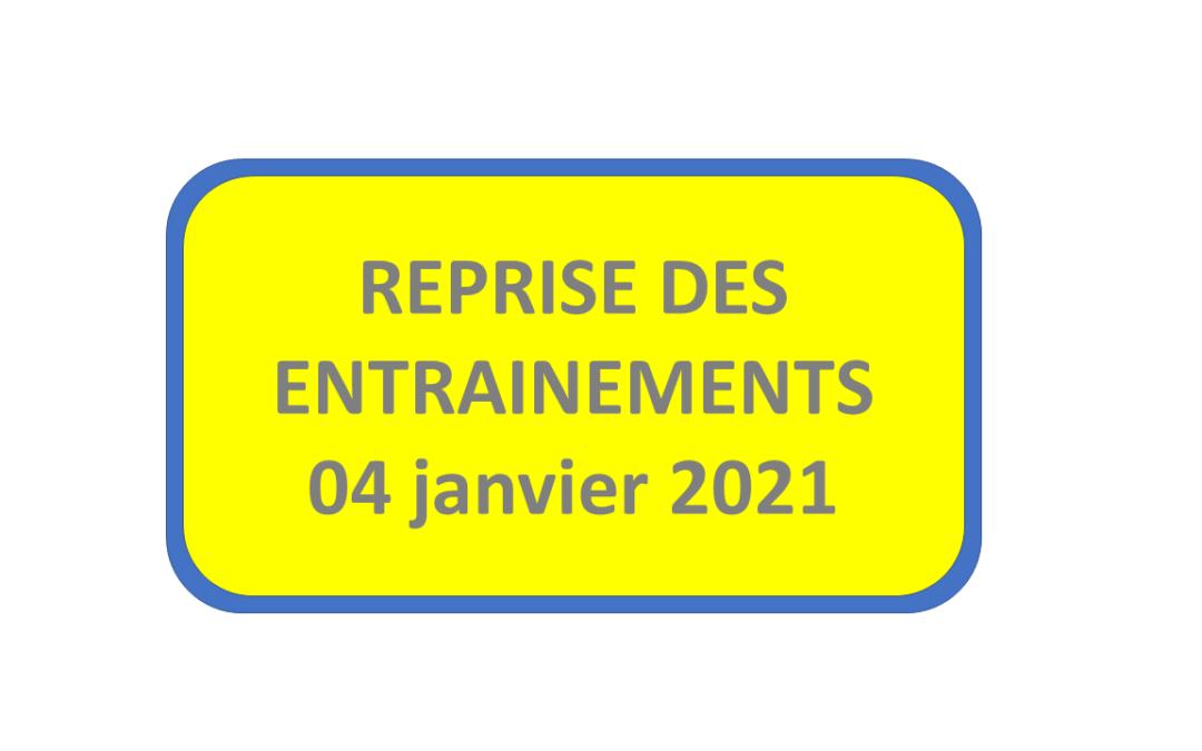 Reprise au 4 janvier 2021